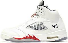 Чоловічі кросівки Nike Air Jordan 5 Supreme White 824371 101, Найк Аїр Джордан 5
