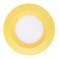 Светодиодный врезной светильник Feron AL525 3W 5000К круглый желтый IP20 4691