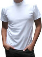 Футболка белая мужская двухслойная для сублимации CLASSIC T-shirt ( размер S )