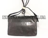 Женская черная сумка-клатч с растительной пирографией