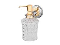 Дозатор для жидкого мыла KUGU Maximus 614C&G (латунь, хром, золото, стекло)(Бесплатная доставка  )