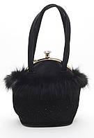 Оригинальная маленькая женская сумочка с меховой оборкой Б/Н art. 8086, фото 1