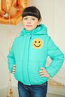 Бирюзовая куртка девочкам | Детская куртка Стефани-2