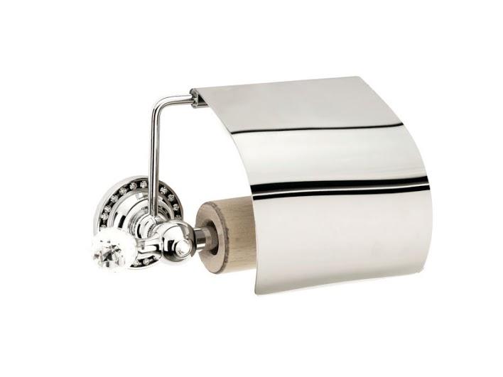 Держатель для туалетной бумаги KUGU Swan 411C (латунь, хром)(Бесплатная доставка  )