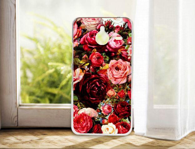 Бампер силиконовый чехол для Nokia Lumia 640 XL с рисунком Розы
