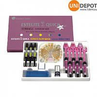 Эстелайт набор 6 шпр. + 3 шпр. флоу + 5мл бонд , Estelite Sigma Quick System Kit , Естелайт сістем набір