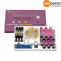 Estelite Sigma Quick System Kit / Эстелайт набор 6 шпр. + 3 шпр. флоу + 5мл бонд