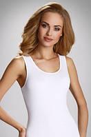 Женская классическая бельевая майка из хлопка белого цвета, модель Clarissa Eldar