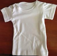 Футболка белая детская двухслойная для сублимации CLASSIC T-shirt ( размер 66-68 с заклепками )