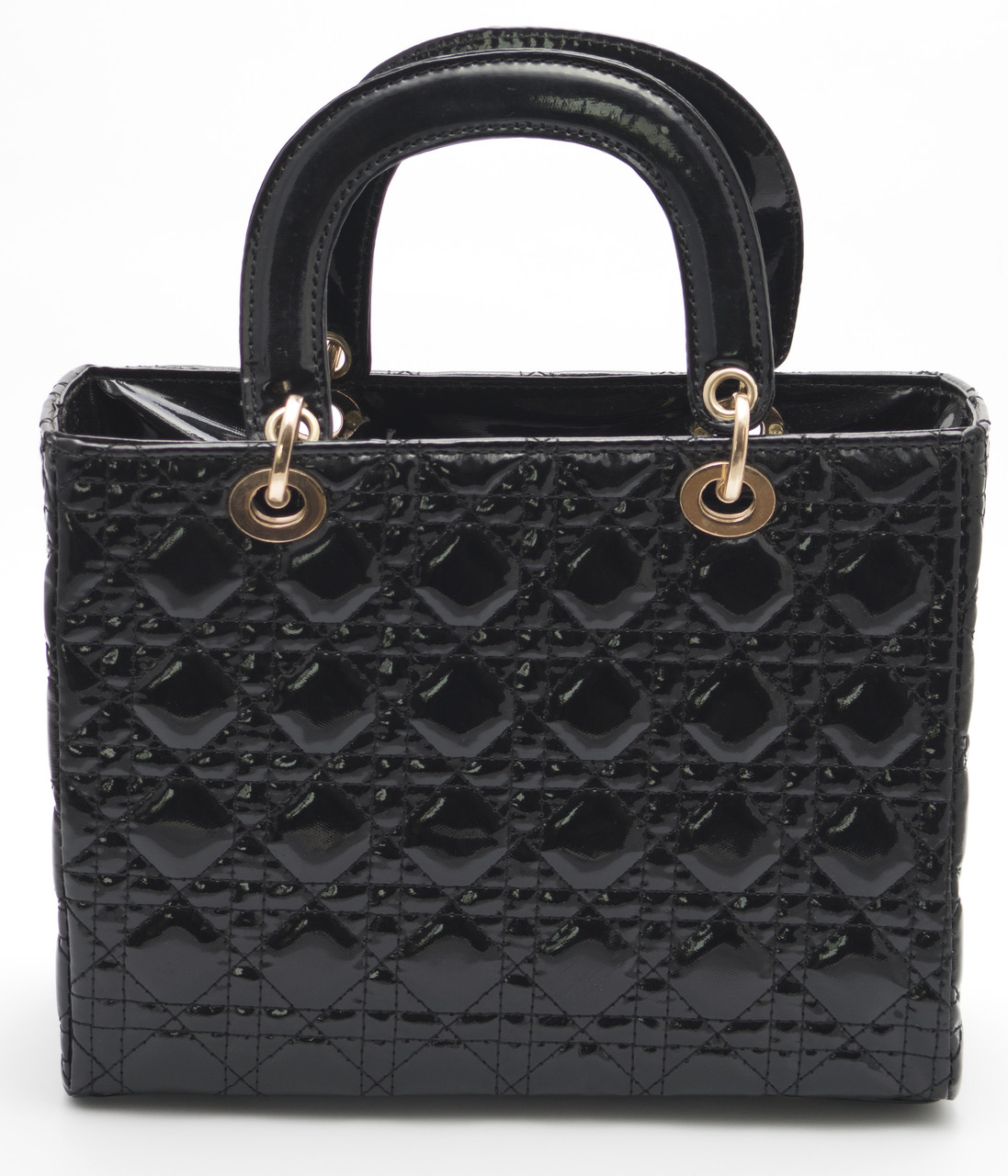 Элегантная женская черная лаковая сумка  Б/Н art.0-1