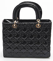 Элегантная женская черная лаковая сумка  Б/Н art.0-1, фото 1