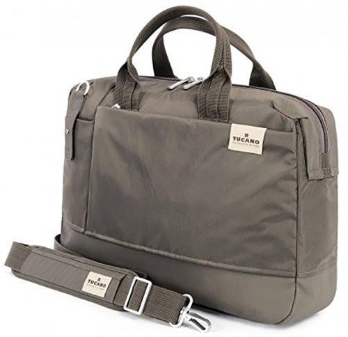"""Удобная сумка для ноутбука 15,6"""" бизнесс-плана Tucano AGIO (grey) BAGIO15-GT серый"""