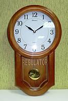 Часы настенные из дерева с маятником Kronos SC-510Q, 48см