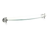 Полка для ванной комнаты KUGU Swan 403C (латунь, хром, стекло)(Бесплатная доставка Новой почтой)