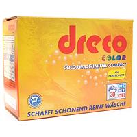 Стиральный порошок для цвeтного белья концентрированный Dreco Colorwaschmittel Compact 2025 гр.