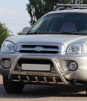 Кенгурятник WT на Hyundai Santa Fe (2001-2006) Хюндай Санта Фе PRS