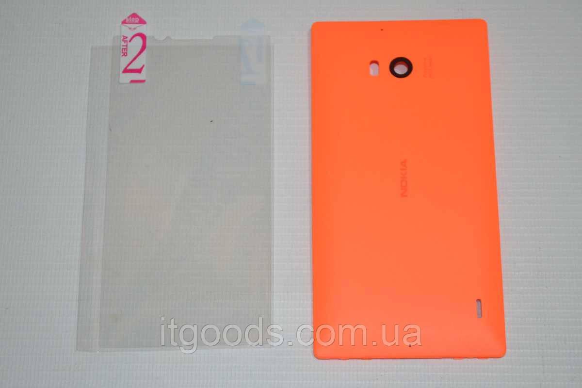 Задняя оранжевая крышка для Nokia Lumia 930 + ПЛЕНКА В ПОДАРОК