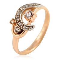 Кольцо из золота 585 пробы с бриллиантами, фото 1