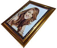 Рамки для фотографий (13 х 18 см) золото с узором