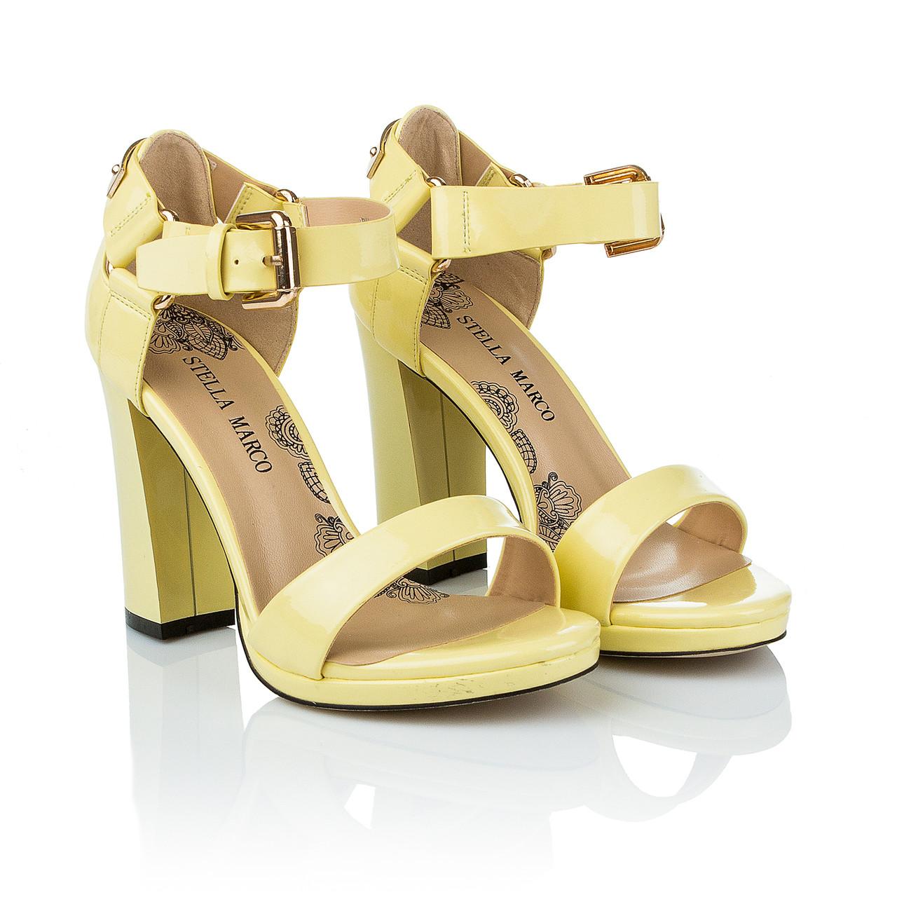 36d171d3e Желтые босоножки на каблуке Stella Marco (модные, стильный дизайн,  элегантные, оригинальные, изысканные)