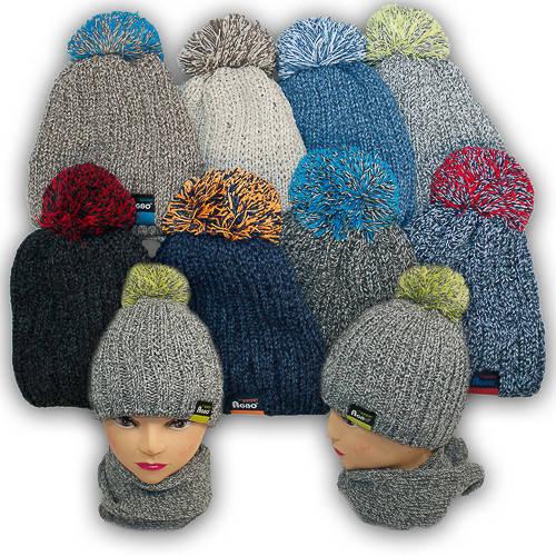Комплект шапка и шарф для мальчика, Agbo (Польша), подкладка флис, ELDO 922