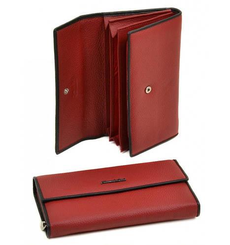 Женский кожаный модный кошелек Classik-color Alessandro Paoli WS-516 red (красный)