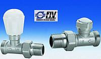 Вентиль+ клапан отсекающий (прямой) для радиатора FIV DN15