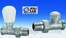 Вентиль для радиатора прямой+ клапан отсекающий FIV DN15