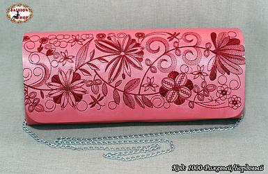 Вышитый розовый/бордовый клатч Очарование