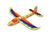 Планер метательный из пенопласта J-Color Hawk 600 мм c красками (модель самолета, сборные модели самолетов)