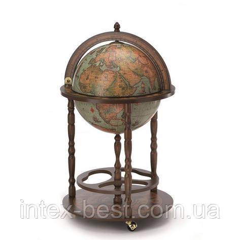 Глобус-бар D:40cm 53*86cm зеленый Zoffoli, фото 2