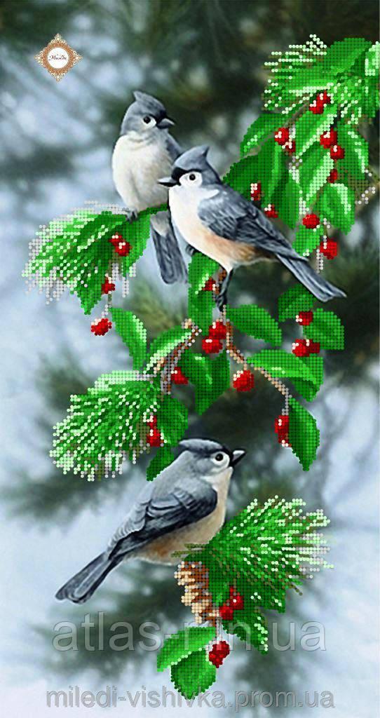 """Схема для вышивки бисером """"Очаровательные птички"""""""