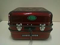 Кофр (багажник) металлический с крепежом красный