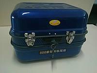 Кофр (багажник) металлический с крепежом синий