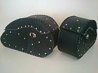 Кофры боковые (багажник) большие капля с заклепками комплект 2 шт.