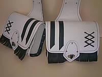 Кофры боковые портфели (багажник) белые комплект 2 шт. для Мотоцикла