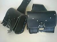 Кофры боковые портфели (багажник) черные комплект 2 шт. для Мотоцикла