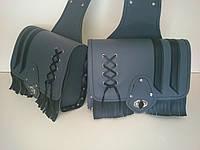 Кофры боковые портфели (багажник) серые комплект 2 шт. для Мотоцикла