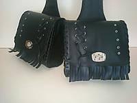 Кофры боковые портфели (багажник) черные узкие комплект 2 шт. для Мотоцикла