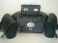Кофры боковые портфели + батон + задний (багажник) комплект 4 шт. для Мотоцикла