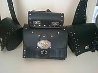 Кофры боковые портфели косые + батон + задний (багажник) комплект 4 шт. для Мотоцикла
