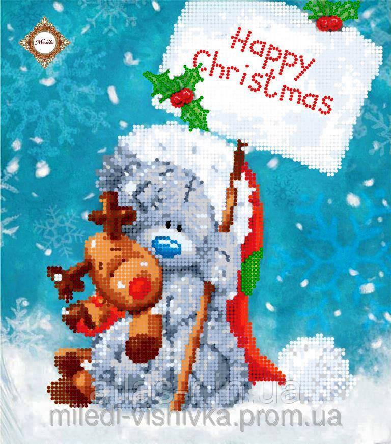 """Схема для вышивки бисером """"Teddy's Christmas"""""""