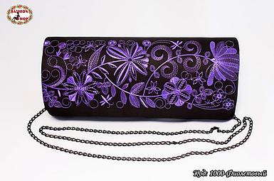 Вышитый фиолетовый клатч Очарование
