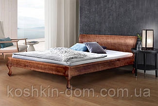Кровать двуспальная Николь орех темный 160*200 массив сосны