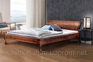 Ліжко двоспальне Ніколь горіх темний 160*200 масив сосни