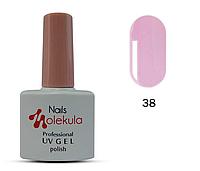 Гель-лак для ногтей Nails Molekula №38 лиловый френч