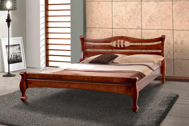 Двуспальная кровать Динара Микс 1600х2000 мм деревянная