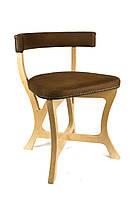 """Дизайнерский деревянный стул для ресторана """"DREAM"""" ЗАМША"""