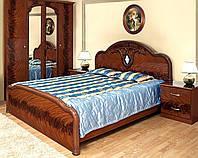 Кровать 2-сп Лаура 1,6 м орех лак (Світ Меблів TM)