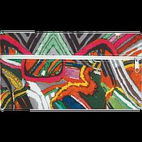 Пенал ZiBi плоский 21 x 11 х 1 см, текстильный, радужные разводы (ZB16.0452)